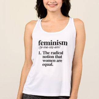 Camiseta Definição do feminismo - as mulheres são iguais