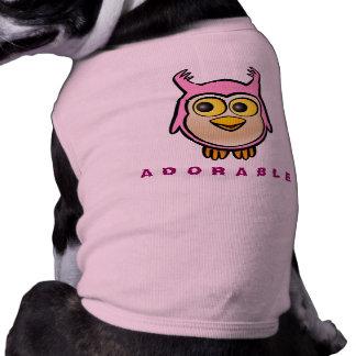 Camiseta Desenhos animados customizáveis da coruja bonito