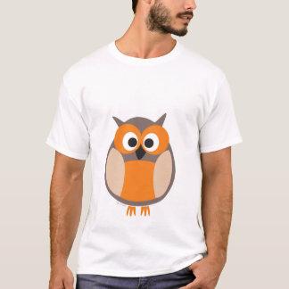 Camiseta Desenhos animados engraçados da coruja olhar