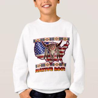 Camiseta Design americano dos EUA das raizes do nativo