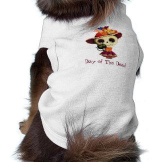 Camiseta Dia mexicano bonito da menina inoperante