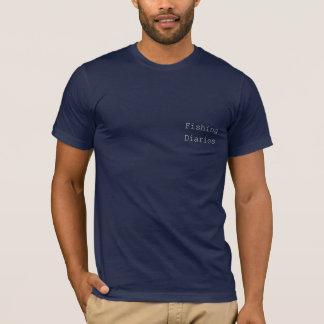 Camiseta Diários da pesca - pesca do caiaque