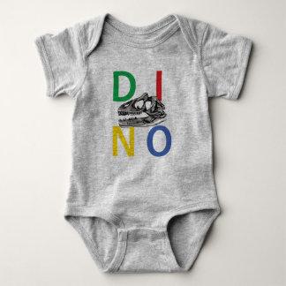 Camiseta DINO - Bodysuit cinzento do jérsei do bebê da urze
