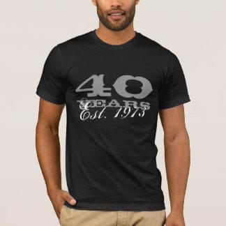 Camiseta do aniversário de 40 anos para homens |
