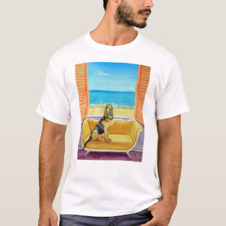 Camiseta do cão do Bloodhound