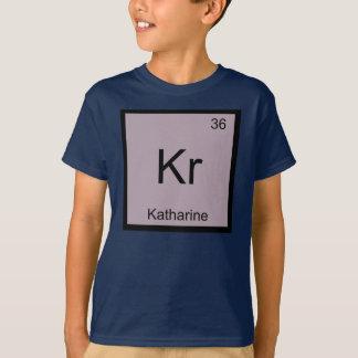 Camiseta Do elemento conhecido da química de Katharine mesa