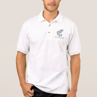 Camiseta do polo da pesca com mosca