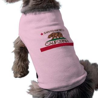 Camiseta Doggy da bandeira de San Francisco Califórnia