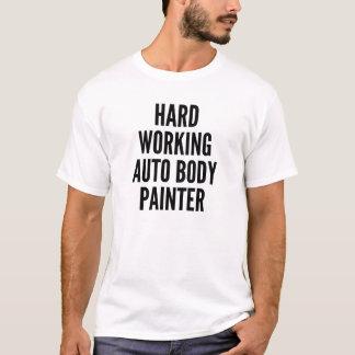 Camiseta Duro que trabalha o auto pintor do corpo