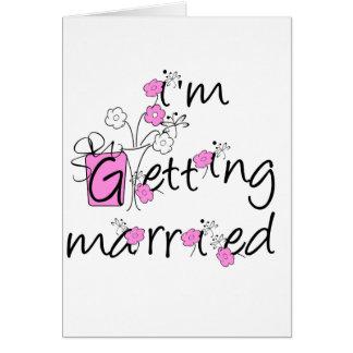 Camiseta e presentes cor-de-rosa e pretos da noiva cartão comemorativo