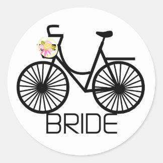 Camiseta e presentes da noiva da bicicleta adesivo