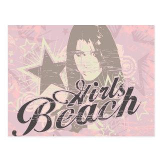Camiseta e presentes da praia das meninas cartão postal