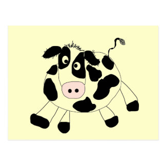 Camiseta e presentes da vaca da fazenda cartão postal