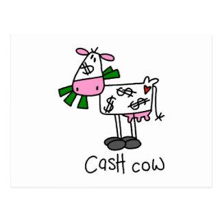 Camiseta e presentes da vaca de dinheiro cartão postal