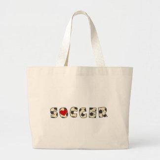 Camiseta e presentes do amor do futebol bolsa para compras