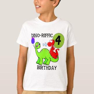 Camiseta e presentes do aniversário do dinossauro