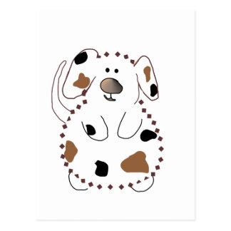 Camiseta e presentes do cão dos desenhos animados cartão postal