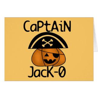 Camiseta e presentes do capitão Jack=O o Dia das B Cartões