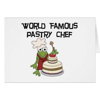 Camiseta e presentes do cozinheiro chefe de pastel cartões