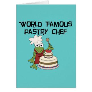 Camiseta e presentes do cozinheiro chefe de pastel cartoes