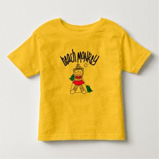 Camiseta e presentes do macaco da praia