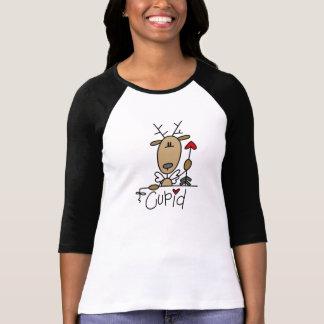 Camiseta e presentes do Natal da rena do Cupido