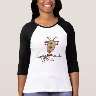 Camiseta e presentes do Natal da rena do Vixen