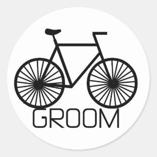 Camiseta e presentes do noivo da bicicleta adesivo