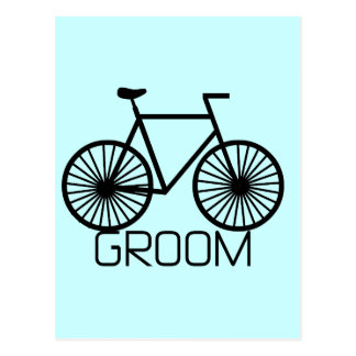 Camiseta e presentes do noivo da bicicleta cartão postal