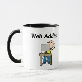 Camiseta e presentes do viciado da Web Caneca