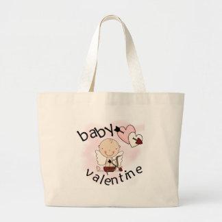 Camiseta e presentes dos namorados do bebê bolsa de lona