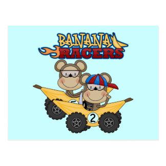 Camiseta e presentes dos pilotos da banana cartão postal
