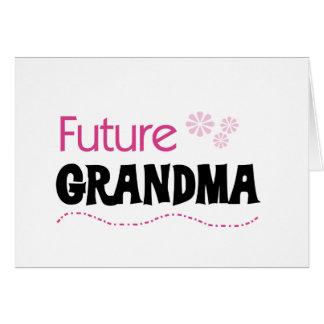 Camiseta e presentes futuros da avó cartão comemorativo