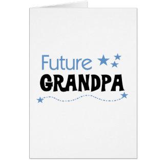 Camiseta e presentes futuros do vovô cartão comemorativo