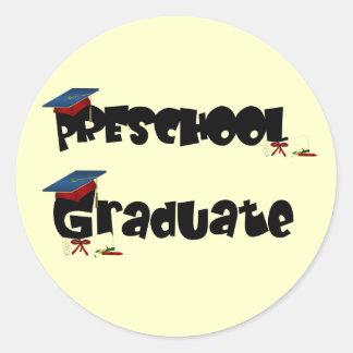 Camiseta e presentes graduados do pré-escolar adesivo