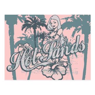 Camiseta e presentes gráficos da menina da praia cartão postal