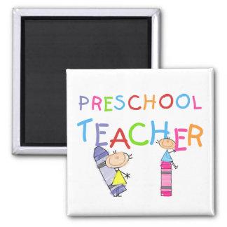 Camiseta e presentes prées-escolar do professor do ímã quadrado