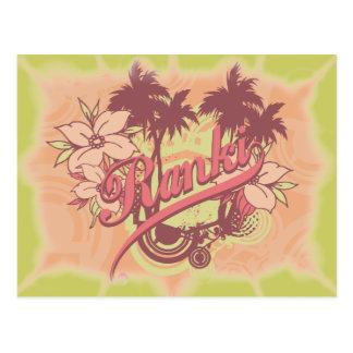 Camiseta e presentes tropicais da praia cartão postal