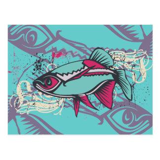 Camiseta e presentes tropicais dos peixes cartão postal