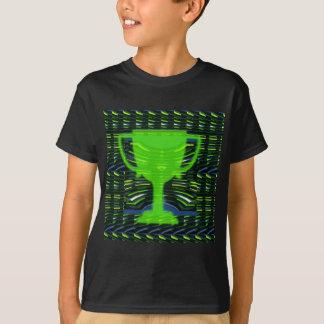 Camiseta Ecologista do verde do troféu do vencedor