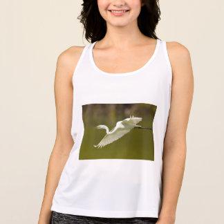 Camiseta egret em vôo