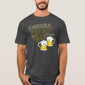 Camiseta ELOGIOS & CERVEJAS a 40 anos! T do aniversário
