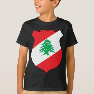 Camiseta emblema de Líbano