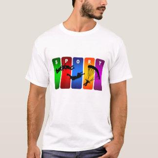 Camiseta Emblema multicolorido de Skydiving