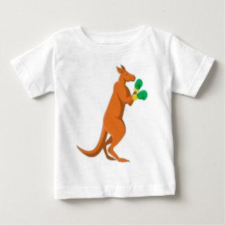 Camiseta encaixotamento do pugilista do canguru retro