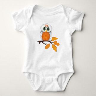 Camiseta Equipamento do bebê da coruja