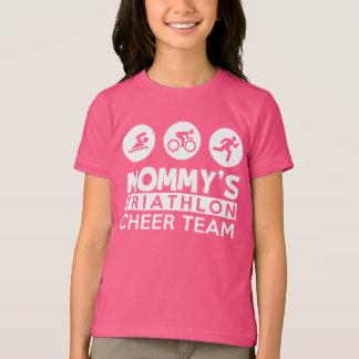 Camiseta equipe do elogio do triathlon da mamã