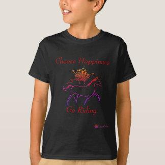 Camiseta Escolha a felicidade - vá montar