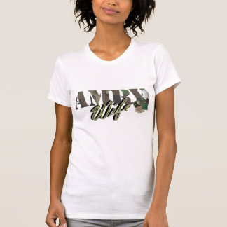 Camiseta esposa do exército