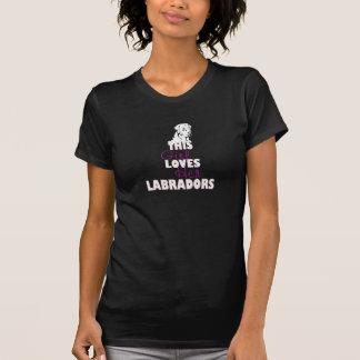 Camiseta Esta menina ama seu Labradors